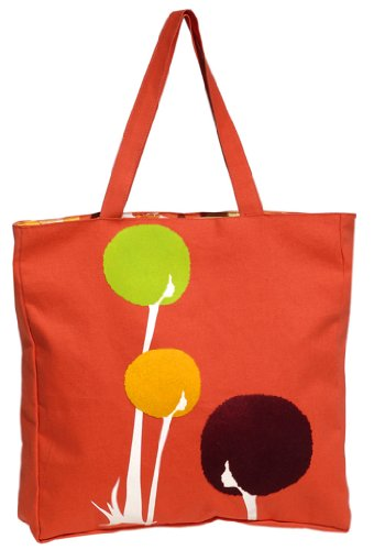 Blue Platypus Dandylion Canvas Tote-Orange-One Size front-158097