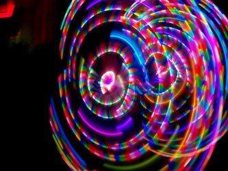 "36"" 91cm - HDPE - Phoenix- LED Hula Hoop by Colorado Hula Hoops"