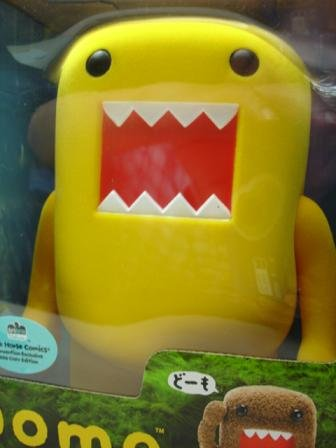 Domo Flocked Vinyl Figure - True Yellow