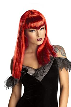 Rubie's Costume Adult Glitter Vamp Wig, Red, One Size