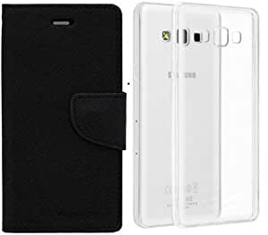 Generic Mercury Flip with Transparent Back Cover For Asus Zenfone 5