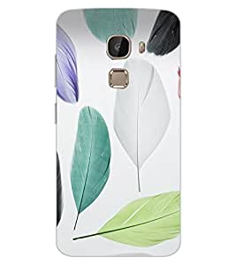 ColourCraft Colourful Feathers Design Back Case Cover for LeEco Le 2 Pro