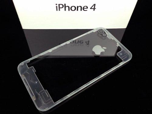 iPhone4 部品 透明 オールスケルトン オールクリアー バックパネル ガラス製 新品