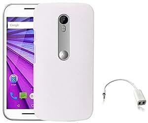 Tidel White Back Cover For Motorola Moto G 3rd Generation With AUDIO SPLITER