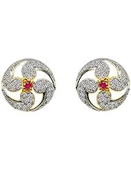 Jewelskaro Antique Designer American Diamond Fashion Jewelry Ear Tops Designs Stud Earrings For Women & Girls