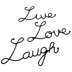 Metal Wall Words Live Love Laugh Sign Quote Home Decor Sculpture