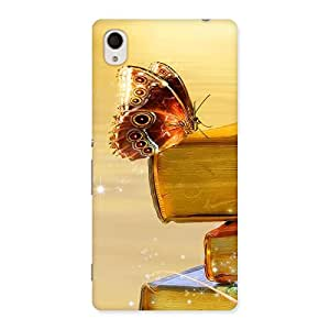 Cute Book Butterfly Back Case Cover for Sony Xperia M4