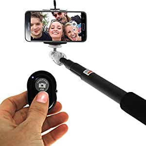 WEB9T9 Bluetooth Selfie Stick Compatible for Yezz Andy 4E LTE
