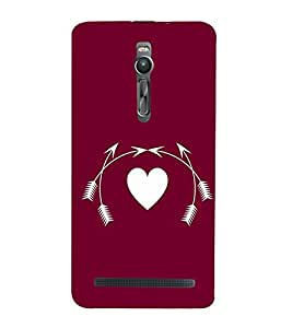 Creative Heart Design 3D Hard Polycarbonate Designer Back Case Cover for Asus Zenfone 2 ZE551ML