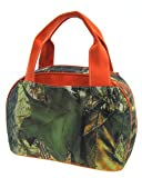 Orange Trim Camo Camouflage Insulated Lunch Bag Box