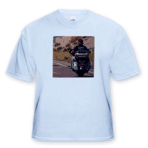 A Man on a Harley Davidson Going Down The Interstate in Southern Utah - Toddler Light-Blue-T-Shirt (4T)