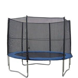 Filet de sécurité de remplacement adapté au trampoline Ø245cm 6barres--PE matériel , maille de haute densité-- filet de sécurité seulement , Sans trampoline ni armature / coussin