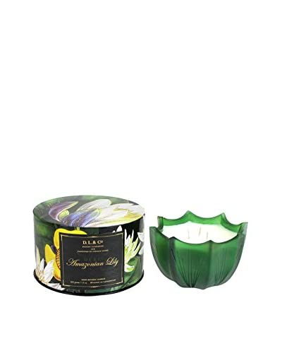 D.L. & Co. 15-Oz. Amazonian Lily Scallop Candle