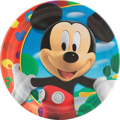 Mickey Mouse Dinner Plates 8ct - 1