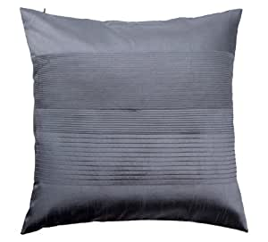 Luxury Decorative Pillow Collection : Buy Loft Collection Luxury Pleat Decorative Pillow Replacement Cover, Blue Gray Online at Low ...