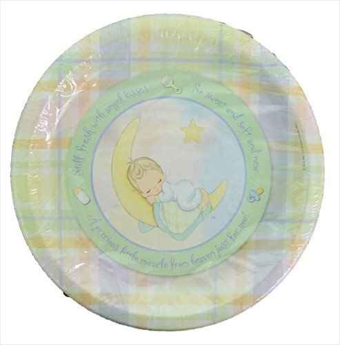 Precious Moments 'Baby Moments' Large Paper Plates (8ct) - 1