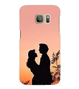 Romantic Couple 3D Hard Polycarbonate Designer Back Case Cover for Samsung Galaxy S7 Edge :: Samsung Galaxy S7 Edge Duos G935F