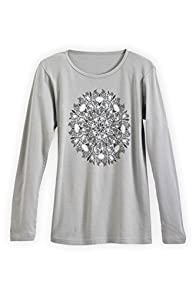 Green 3 Apparel Long Sleeve Fall Medallion USA made Organic T-shirt
