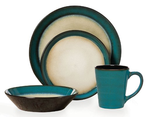 Pfaltzgraff 16-pc. Aria Teal Dinnerware Set