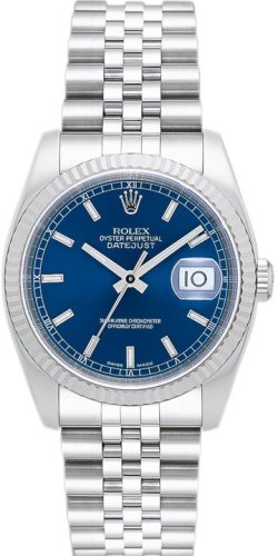 [ロレックス] ROLEX 腕時計 デイトジャスト 116234 ブルー バー メンズ [並行輸入品]