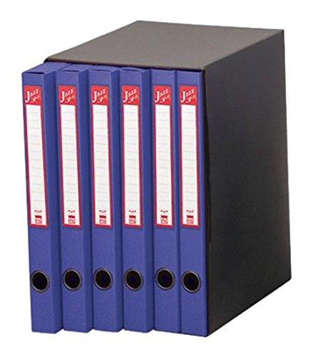 Rexel 20807704 Jazz 4 Sestetto Gruppo di Classificatori ad Anelli, Blu