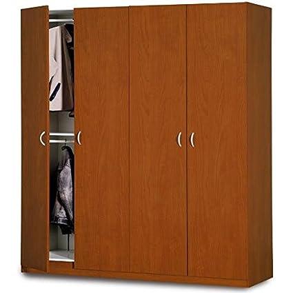 Composad Wardrobe Four Doors 200x 210cm Cherry Colour AR1527