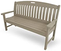 "Hot Sale POLYWOOD NB60SA Nautical 60"" Bench, Sand"