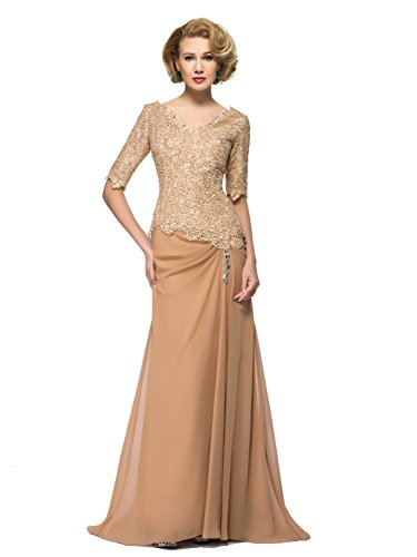 Bridess-Womens-V-Neck-Lace-Long-Mother-of-the-Bride-Dress-with-Sleeve-Champagne