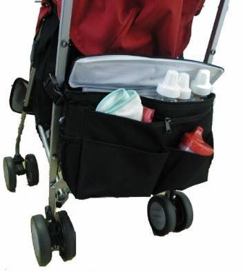 Better Space Stroller Organizer w/Cooler, Black