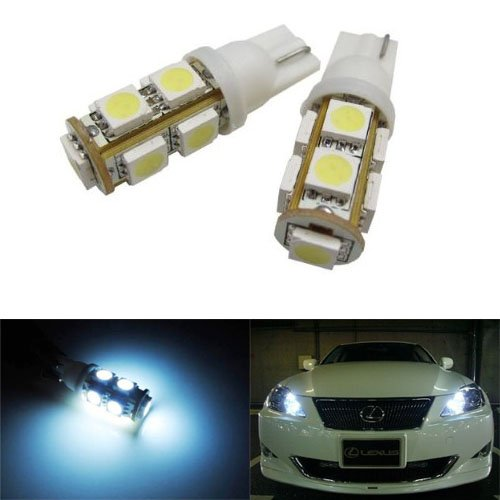 Ijdmtoy 9-Smd-5050 168 194 2825 Led Bulbs For Parking City Lights, Xenon White