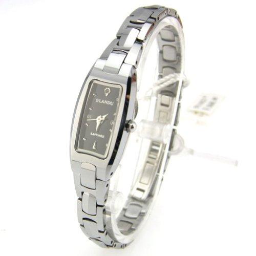 Jk Glandu Classic Elegance Not Fade Diamond Tungsten Steel Waterproof Woman Watch (Silver)