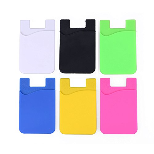 Phone Card Holder,NALAKUVARA Strong 6 Pack Mix Color Adhesive Sticker ID Credit Card Wallet Pocket Pouch Sleeve Universal Size For Most of Phones (Iphones / Samsung Galaxy / Sony Ericsson / LG) (Lg Nexus 4 Back Cover compare prices)