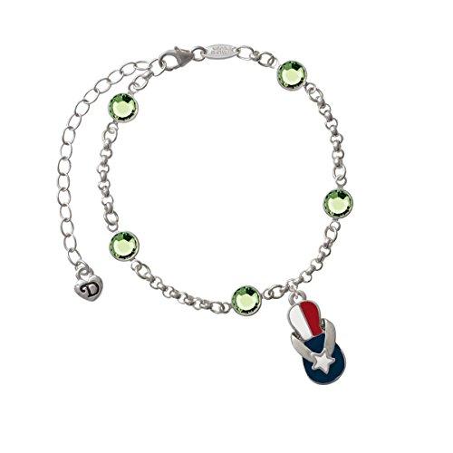 Texas Flip Flop - Lime Green Crystal Fiona Bracelet