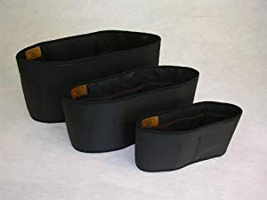 Purse To Go® Purse Insert Liner Organizer-Trio set in black color (1 small, 1 large and 1 jumbo)