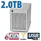 2.0TB OWC Mercury Elite Pro Qx2 4 Bay eSATA,FireWire 800+USB 2.0 Enterprise ....