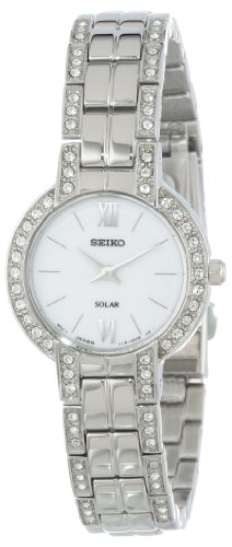 Seiko Women'S Sup199 Dress Solar Modern Crystals Japanese Quartz Watch