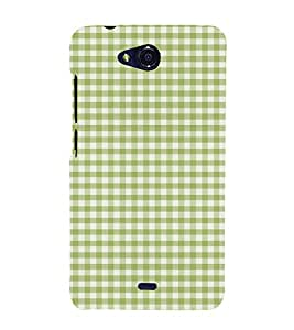 Green Checks Pattern Cute Fashion 3D Hard Polycarbonate Designer Back Case Cover for Micromax Canvas Play Q355