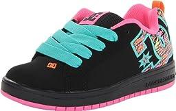 DC Court Graffik SE Skate Shoe (Little Kid/Big Kid),Black/white,1 M US Little Kid