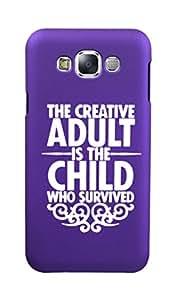 KolorEdge Back Cover For Samsung Galaxy E7 - Purple (5873-Ke15076SamE7PurpleD)