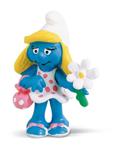 Buy Low Price Schleich Smurfette With Flower Figure (B0002HWO2I)