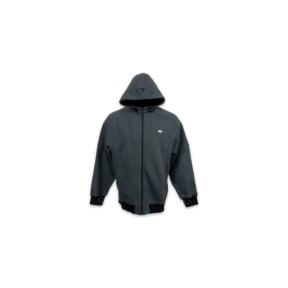 Nike Air Jordan Men Fleece Hoodie Jacket Gray
