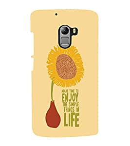 printtech Cool Quotes Life Back Case Cover for Lenovo Vibe X3 Lite
