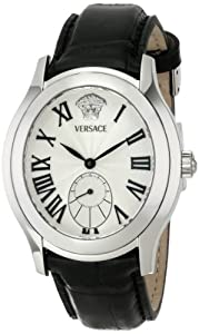 Versace Men's OLA99D498 S009 Bond Street Stainless Steel Silver Sunray Dial Automatic Watch