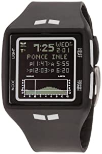 Vestal Men's BRG002 Brig Tide and Train Black and White Digital Polyurethane Surf Watch