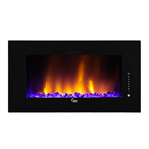 2015 Caesar Luxury Linear Wall Mount Recess Freestanding Multicolor Flame Electric Fireplace, 50-Inch