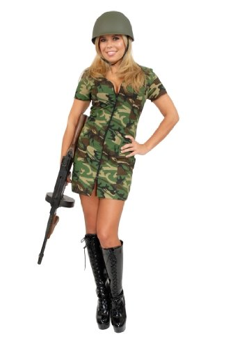 Adult Sexy Army Girl Costume (Size:Large 11-13)