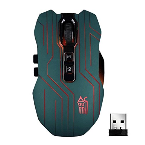 TIFENNY 9D 3200DPI Optical 2.4G Wireless Gaming Mouse For DotA FPS Laptop PC Green (10000 Fps compare prices)