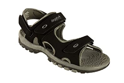 Regatta Crusoe Mens Comfort Walking Beach Mules Sandals Black UK Size 10