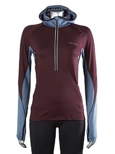 FALKE Damen Running Shirt Kapuzenshirt Brushed Leisure, burgundy, XL, 38494