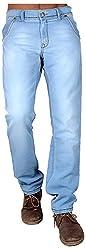 Dangerous Flyer Men's Slim Fit Jeans (DG-SB, Blue, 32